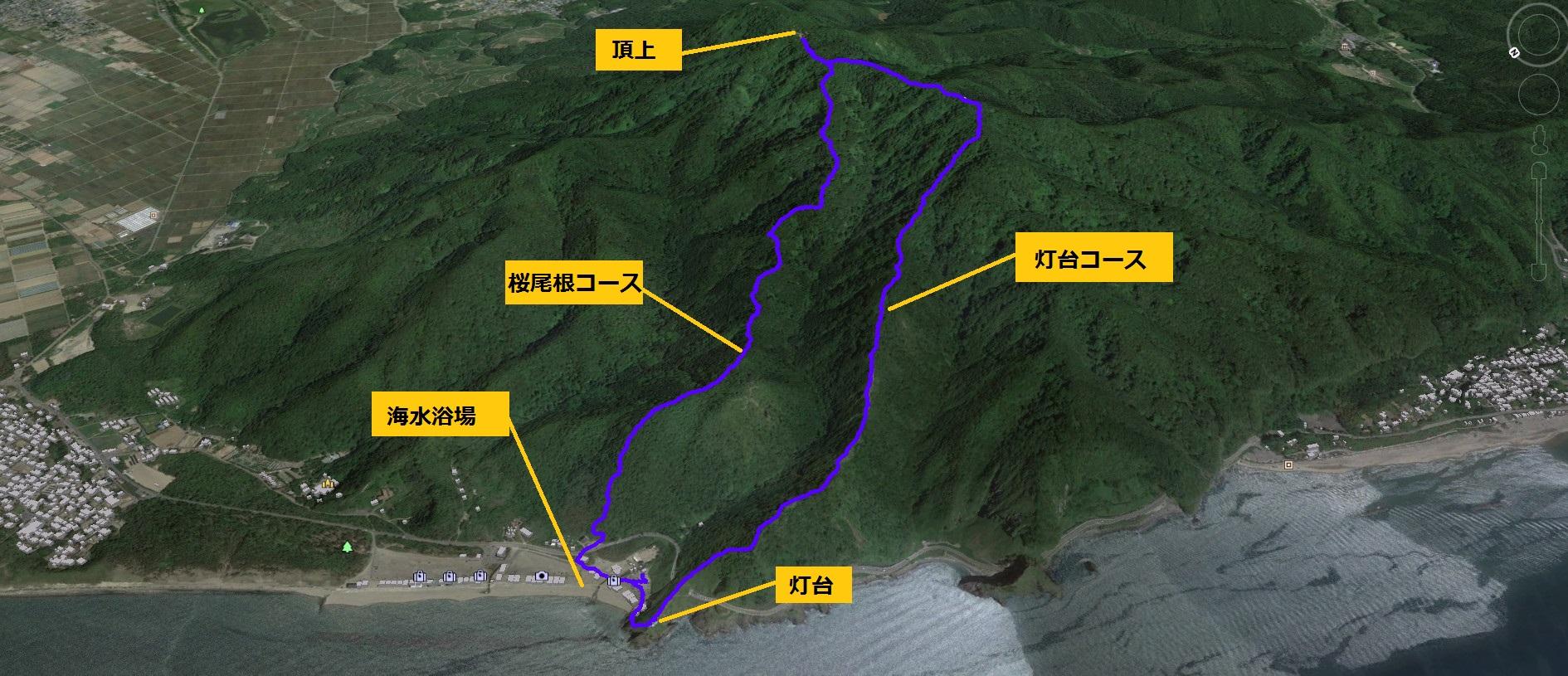 角田山桜尾根